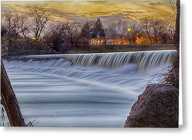 The Falls Of White River Greeting Card