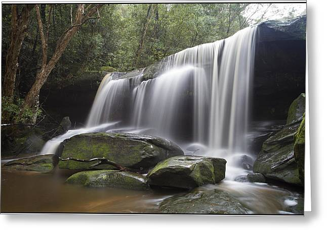 The Falls Greeting Card by Steve Caldwell