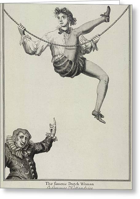 The Famous Dutch Woman Greeting Card by British Library
