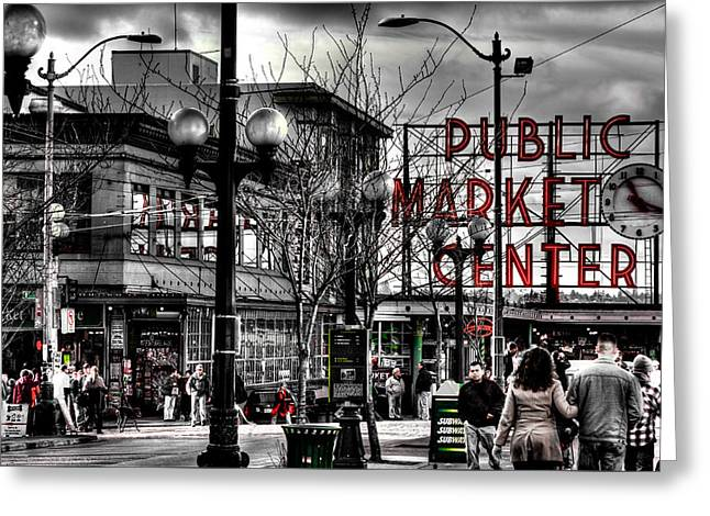 The Famous Pike Place Market - Seattle Washington Greeting Card by David Patterson