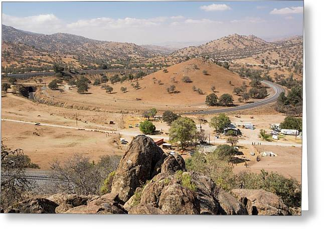 The Famous Tehachapi Loop Greeting Card by Ashley Cooper