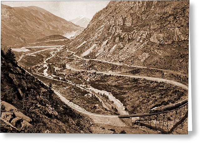The Far-famed Georgetown Loop, Jackson, William Henry Greeting Card by Litz Collection