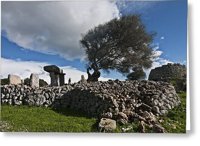 Talayotic Culture In Minorca Island - The Far Side Of The Word Stone Age Heritage Greeting Card