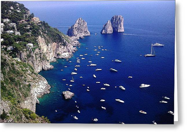 The Faraglioni Of Capri Greeting Card by Ze  Di