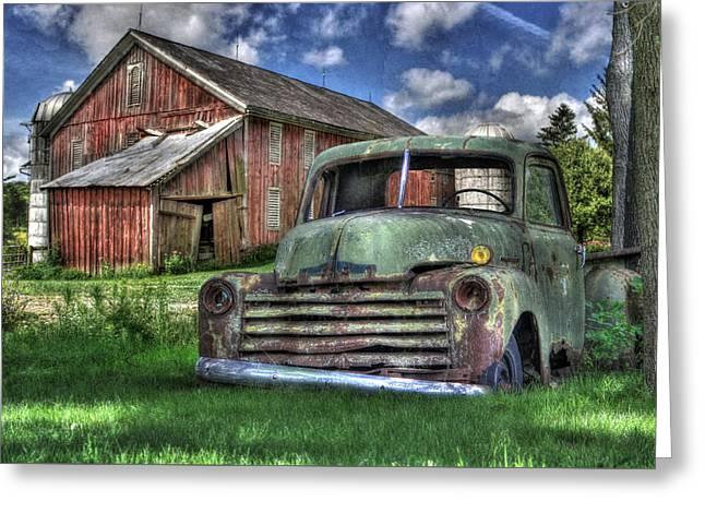 The Farm Truck Greeting Card by Lori Deiter