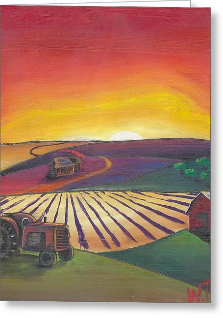 'the Farm' Greeting Card