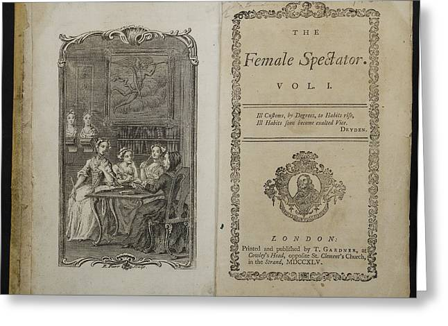 The Female Spectator Greeting Card by British Library