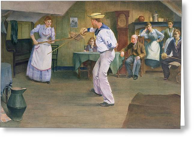 The Fencing Lesson Greeting Card