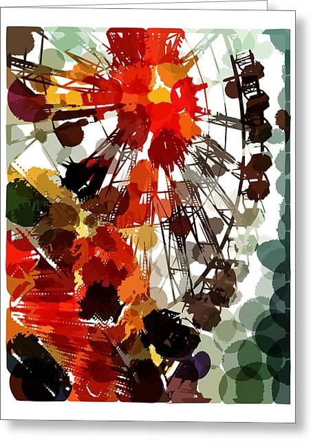 The Ferris Wheel Greeting Card by Mark Compton