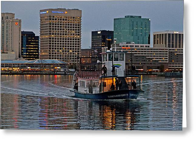 The Ferry To Portsmouth Greeting Card by Jerry Gammon