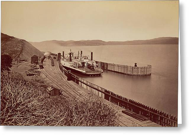 The Ferryboat Solano Carleton Watkins Greeting Card