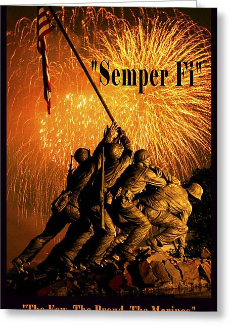 The Few The Proud The Marines Greeting Card by Government Photographer