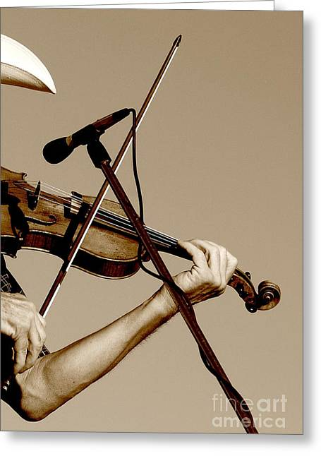 The Fiddler Greeting Card by Robert Frederick