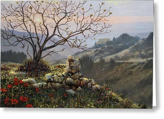 The Fig Tree   Mt Carmel Greeting Card