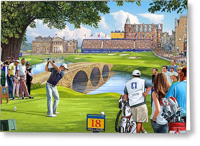 The Final Hole -golfers Paradise Greeting Card by Steve Crisp