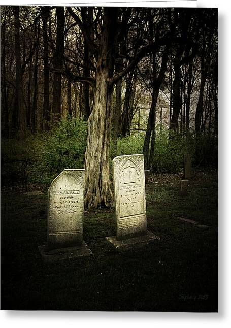 The Final Resting Place Of Ambros And Brazilla Ivins Greeting Card
