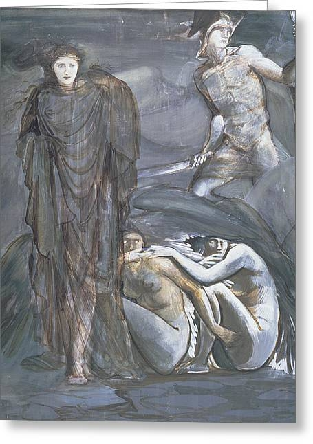 The Finding Of Medusa, C.1876 Greeting Card by Sir Edward Coley Burne-Jones