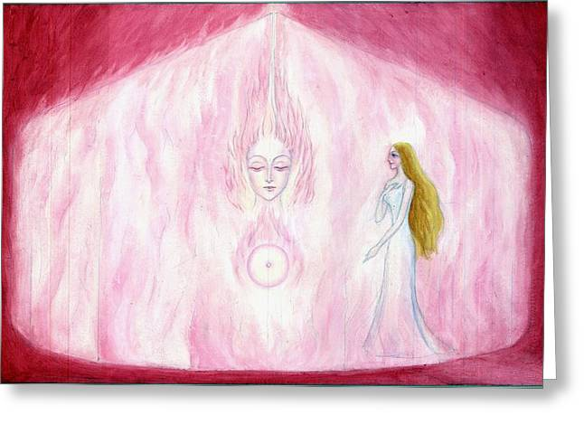 The Finding Of The Soul Greeting Card by Shiva Vangara