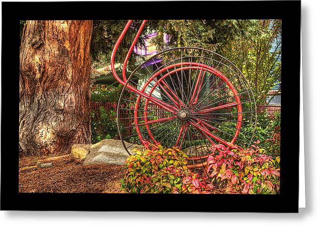 Greeting Card featuring the photograph The Fire Hose Reel by Thom Zehrfeld