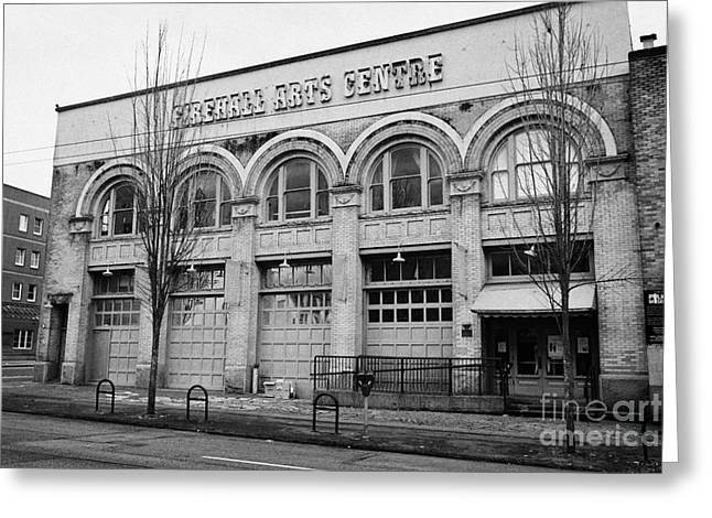 the firehall arts centre originally the first fire station building in Vancouver BC Canada Greeting Card