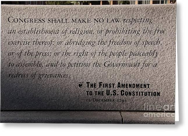 The First Amendment Greeting Card
