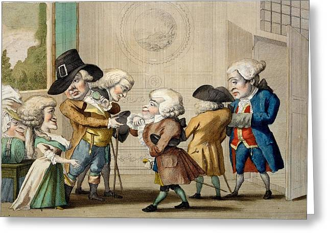 The First Approach, C.1790 Greeting Card by Carlo Lasinio