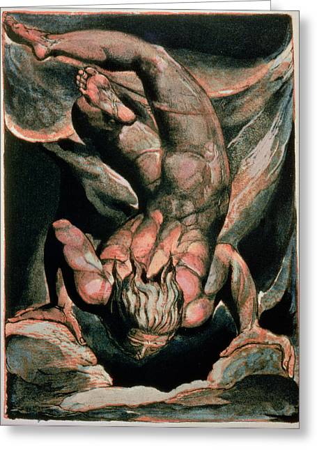 The First Book Of Urizen Greeting Card by William Blake