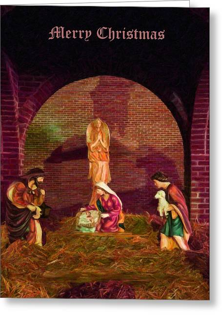 The First Christmas - Greeting Card Greeting Card by Chris Flees