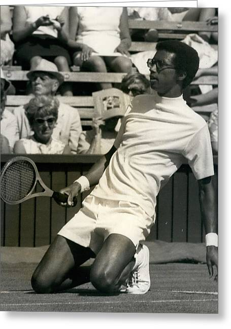 The First Dai Of The Wimbeddon Tennis Tournament Arthur Greeting Card by Retro Images Archive