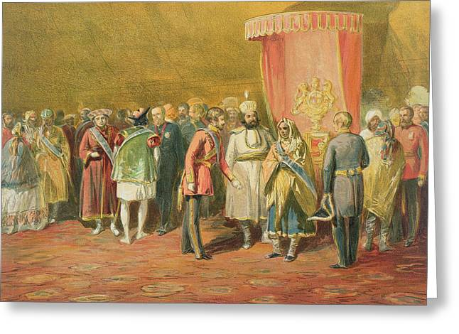 The First Investiture Of The Star Greeting Card by William 'Crimea' Simpson