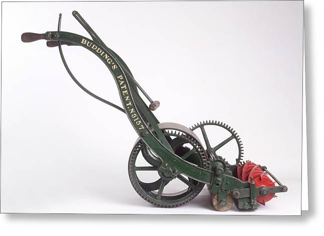 The First Lawn Mower Dating From 1830 Greeting Card