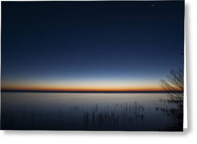 The First Light Of Dawn Greeting Card