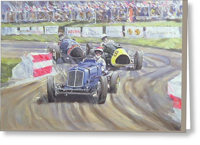 The First Race At The Goodwood Revival Greeting Card