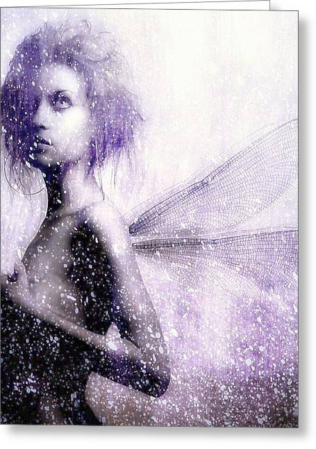 The First Spring Fairy Greeting Card by Gun Legler