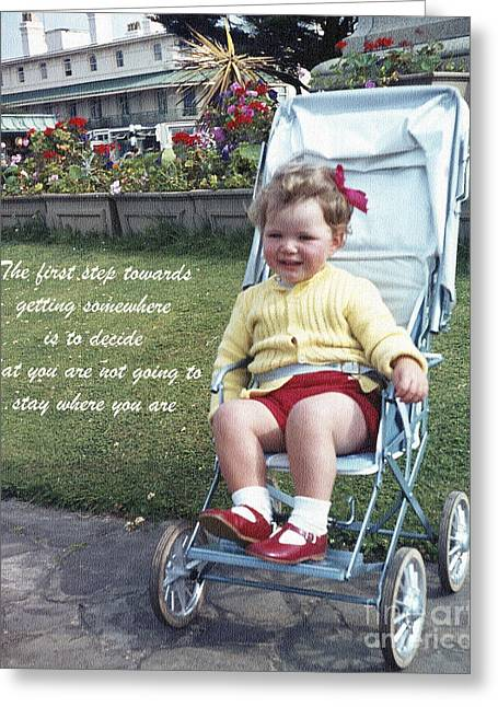 The First Step Greeting Card by Terri Waters