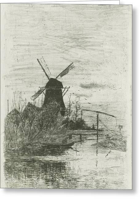 The Fisherman, Fredericus Jacobus Van Rossum Du Chattel Greeting Card