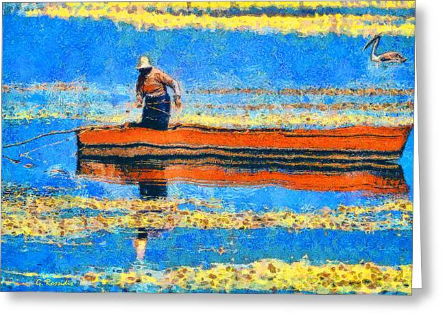 The Fisherman Greeting Card by George Rossidis