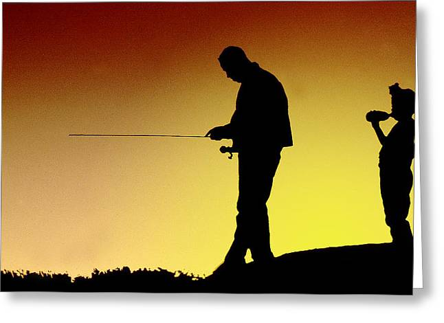 Greeting Card featuring the photograph The Fisherman by Mike Flynn