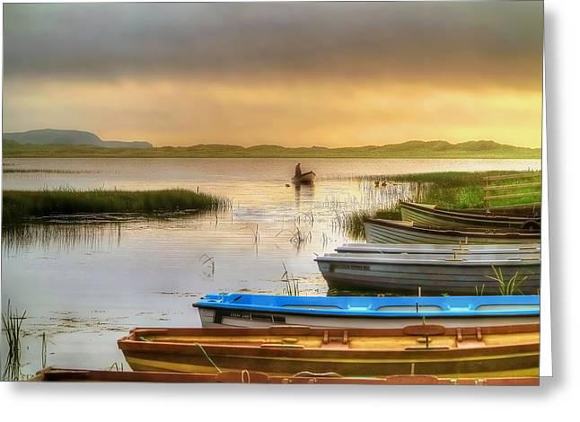 The Fisherman's Return Greeting Card by Kim Shatwell-Irishphotographer