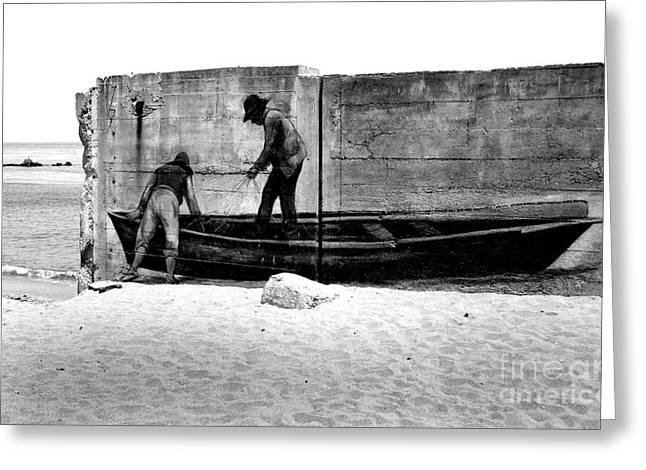 The Fishermen And The Sea... Greeting Card by Chiara Corsaro