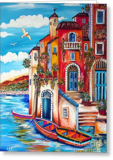 The Fishermen Villa By The Amalfi Coast Greeting Card