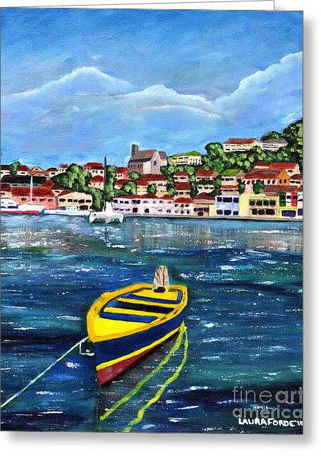 The Fishing Boat  Greeting Card by Laura Forde