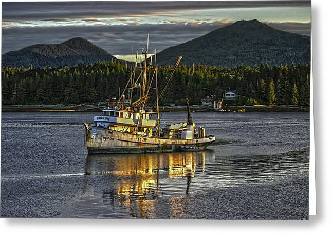 The Fishing Boat8 Greeting Card by Timothy Latta