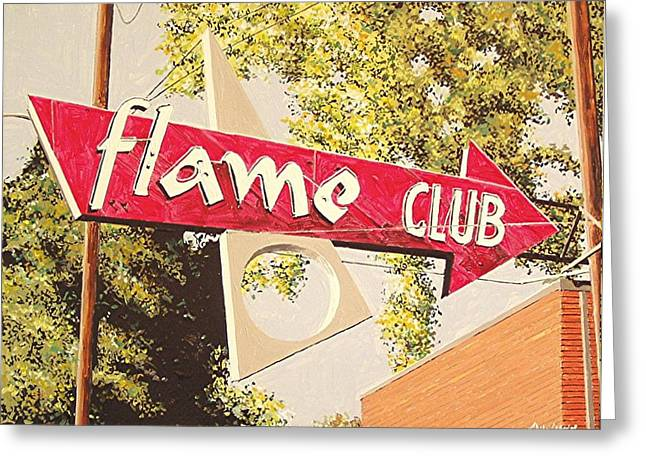 The Flame Club Greeting Card by Paul Guyer