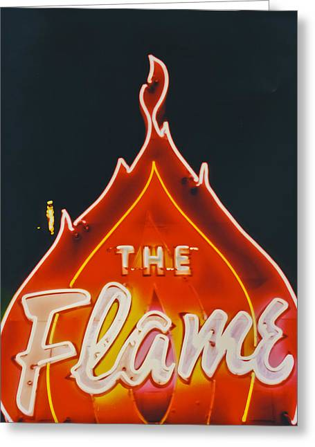 The Flame Greeting Card by Matthew Bamberg