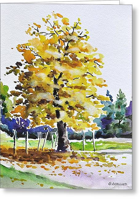 The Flaming Tree Greeting Card