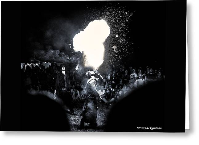 Greeting Card featuring the photograph The Flare Thrower by Stwayne Keubrick