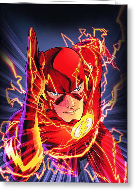 The Flash Greeting Card by FHT Designs