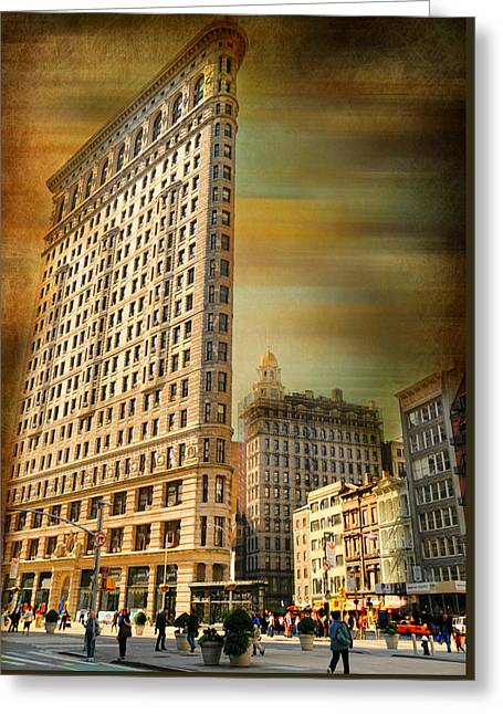 The Flat Iron Building Greeting Card by Diana Angstadt
