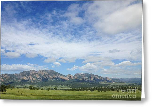 The Flatirons In Spring Greeting Card